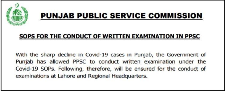 SOPs For Written Examination In PPSC Jobs 2021